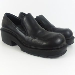 Esprit Vintage Chunky Leather Loafers size 8